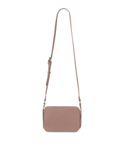 Mocha Polly Perforated Box Crossbody Bag - Taupe - Mocha