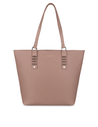 Mocha Polly Perforated Tote Bag - Taupe - Mocha