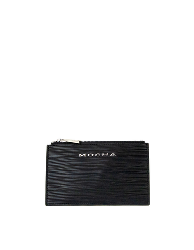 Mocha Zabrina Leather Coin Wallet - Black - Mocha