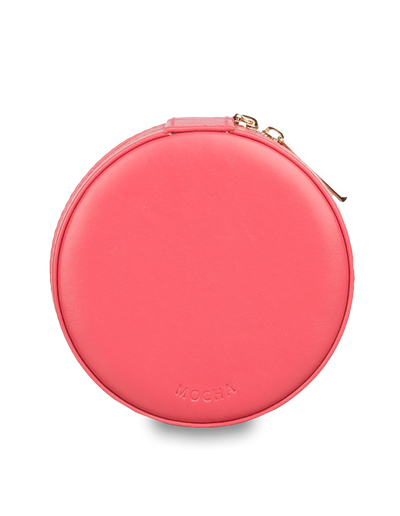 Mocha Small Circle Jewellery Case - Coral - Mocha