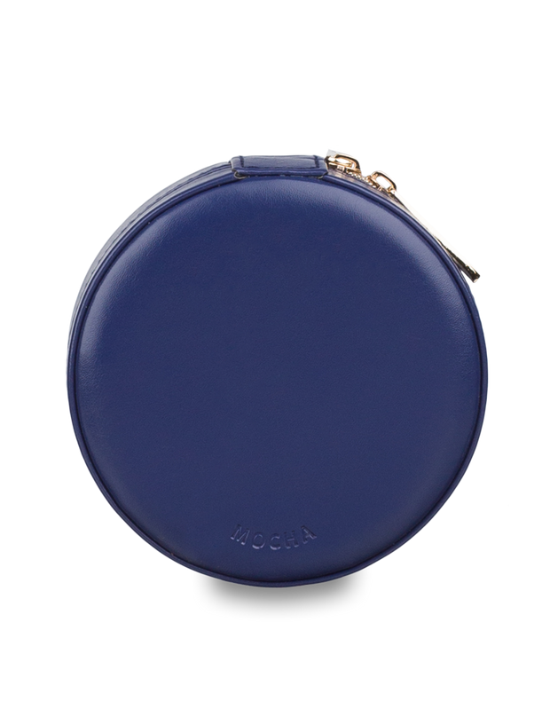 Mocha Small Circle Jewellery Case - Navy - Mocha