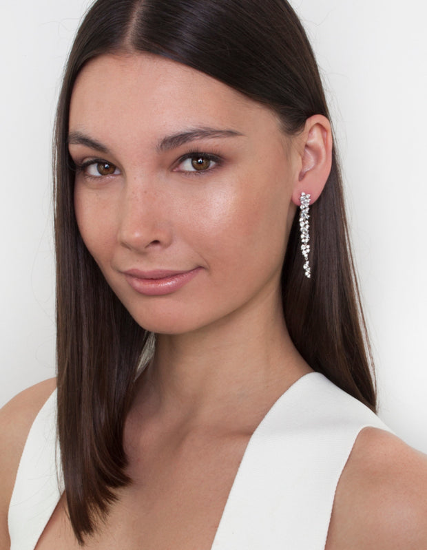 Bianc Trillion Earrings w/ Cubic Zirconia