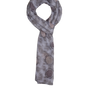 Mocha Bubble Summer Scarf - Grey
