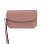 Mocha Simple Chain Clutch Bag - Blush