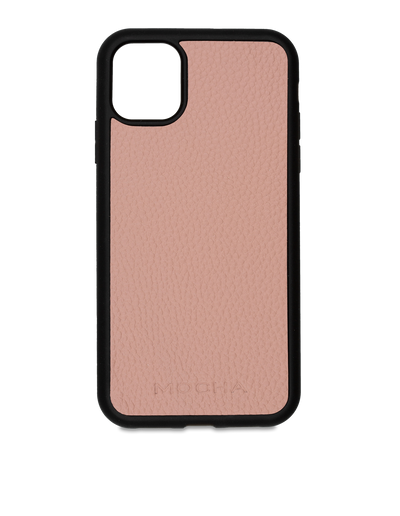 Mocha Limited Edition Pebble Leather Case For iPhone 11 - Flamingo