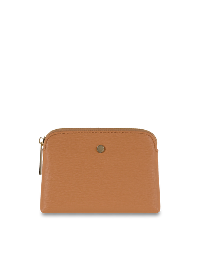 Mocha Sylvia Pebble Leather Coin Wallet - Tan - Mocha