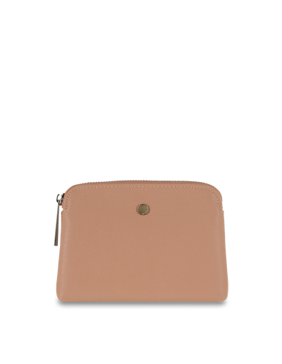 Mocha Sylvia Pebble Leather Coin Wallet - Taupe - Mocha