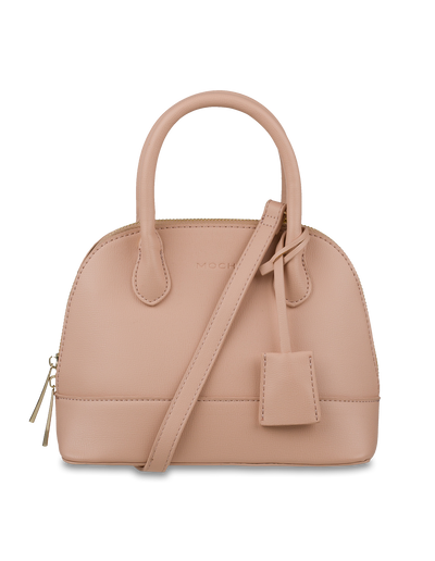 Mocha Cecilia Top-Handle Crossbody Bag - Sand - Mocha