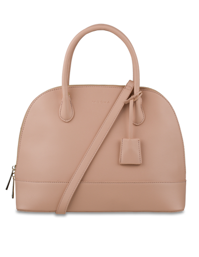 Mocha Cecilia Top-Handle Tote - Sand - Mocha