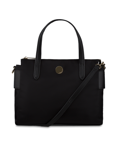 Mocha Voyager Bag - Black/Light Gold - Mocha