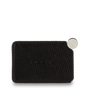 Mocha Mirror With Leather Sleeve - Black