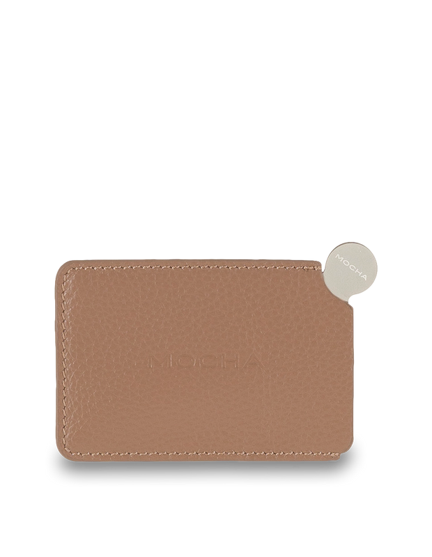 Mocha Mirror with Leather Sleeve - Taupe - Mocha
