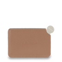 Mocha Mirror with Leather Sleeve - Taupe