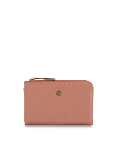 Mocha Cammy Crinkled Patent Small Wallet - Light Mauve - Mocha