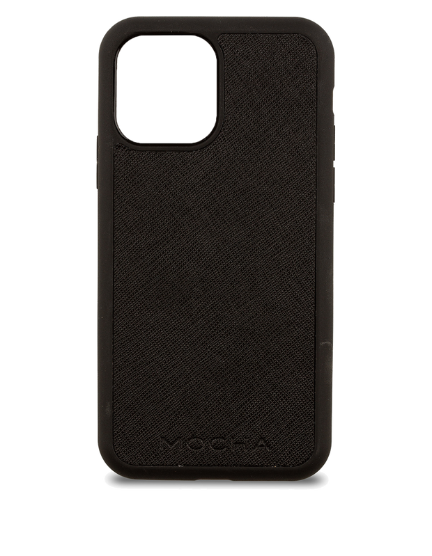 Mocha Jane Leather Hard Case iPhone 12 Pro Max - Black - Mocha