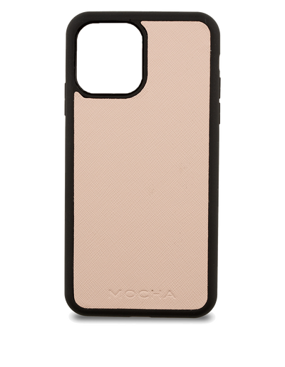 Mocha Jane Leather Hard Case iPhone 12 Pro Max- Blush - Mocha