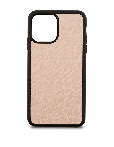 Mocha Jane Leather Hard Case iPhone 12 / 12 Pro - Blush - Mocha