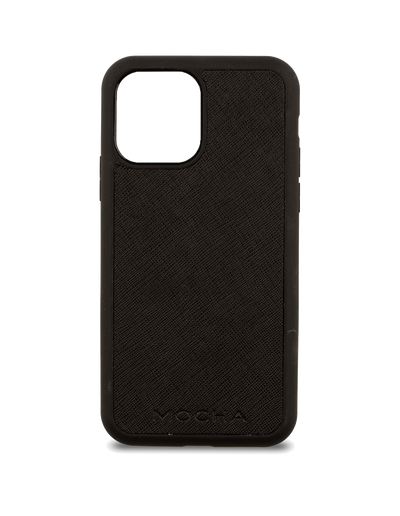Mocha Jane Leather Hard Case iPhone 12 mini - Black - Mocha
