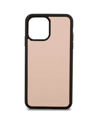 Mocha Jane Leather Hard Case iPhone 12 mini - Blush - Mocha