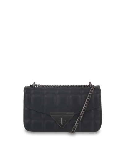 Mocha Vera Quilted Crossbody - Black - Mocha