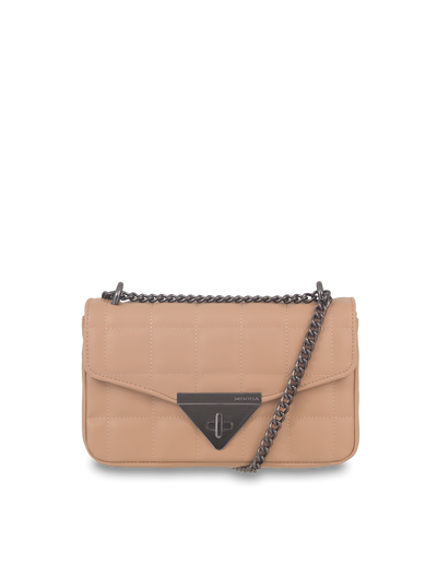 Mocha Vera Quilted Crossbody - Taupe - Mocha