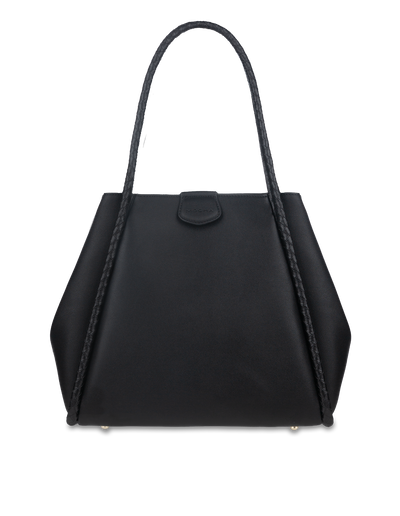 Mocha Bridgette Tote Bag - Black - Mocha