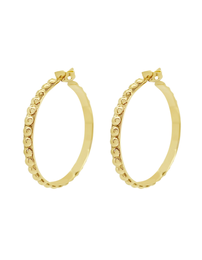 Ichu Ball Hoop Earrings - Gold - Mocha