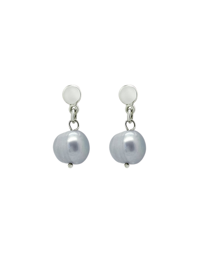 Ichu Pearl Drop Earrings - Blue/Grey - Mocha