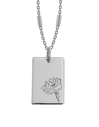 Bianko Birth Flower Necklace October (Marigold) - Silver - Mocha