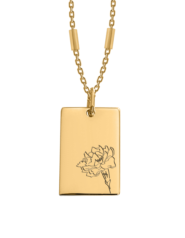 Bianko Birth Flower Necklace October (Marigold) - Gold - Mocha
