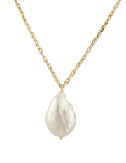 Bianc Carribean Necklace w/ Freshwater Pearl - Gold - Mocha