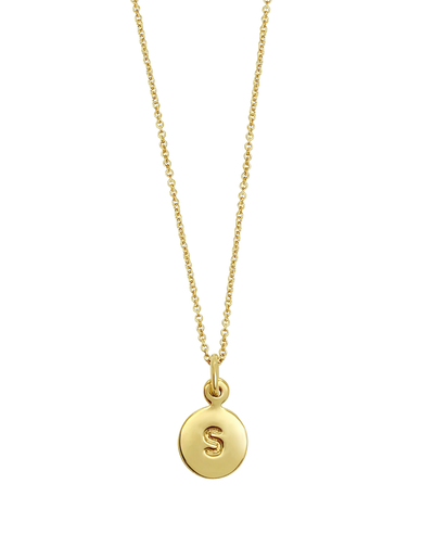 Ichu Letter Necklaces - Gold - Mocha