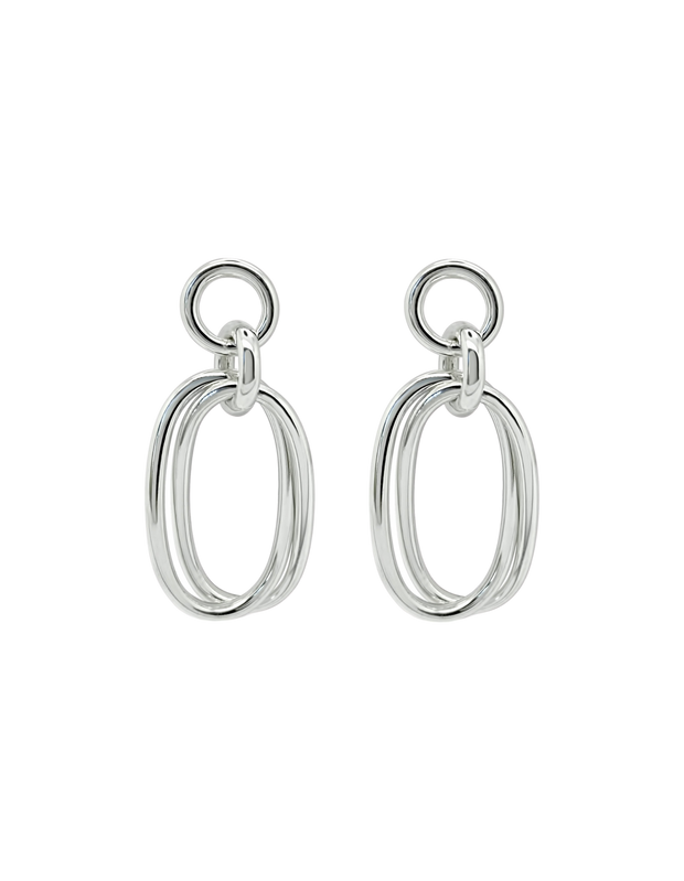 Ichu Oval Link'D Earrings - Mocha