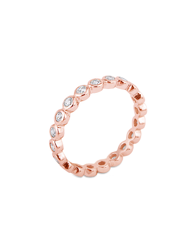 Bianc Eternity Ring w/ Cubic Zirconia - Rose Gold - Mocha