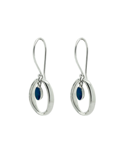 Ichu Halo'D Opal Earrings - Silver - Mocha