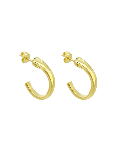 Ichu Reformed Hoop Earrings - Gold - Mocha