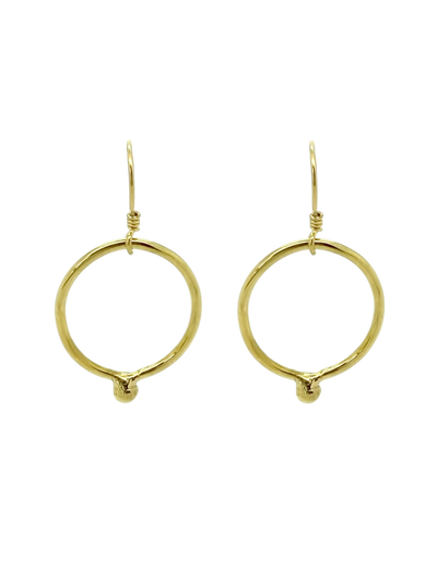 Ichu Ball Ring Earrings - Gold - Mocha