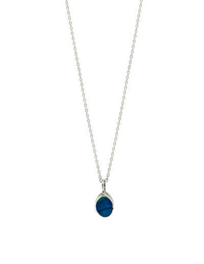 Ichu Oval Opal Necklace - Mocha