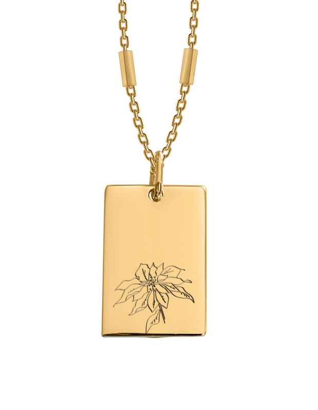 Bianko Birth Flower Necklace December (Poinsettia) - Gold - Mocha