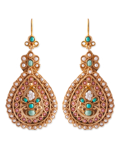 Bianc Boheme Grace Earrings w/ Freshwater Pearl - Mocha