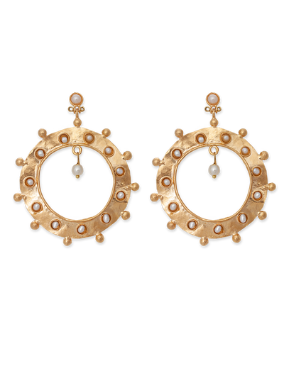 Bianc Taylor Earrings w/ Freshwater Pearl - Mocha