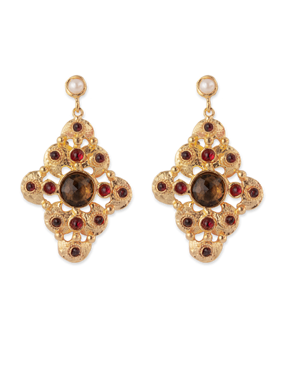 Bianc Boheme Victoria Earrings - Mocha