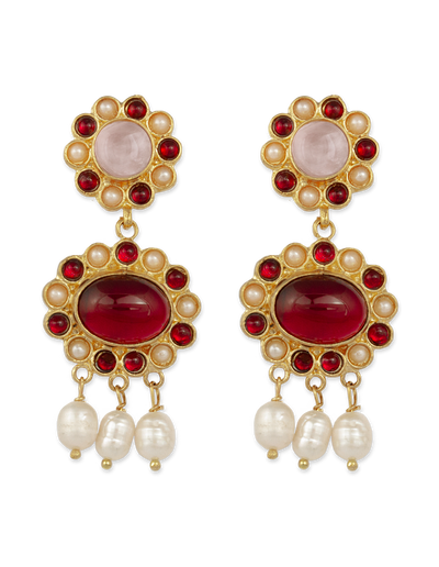 Bianc Francesca Earrings w/ Freshwater Pearl - Mocha