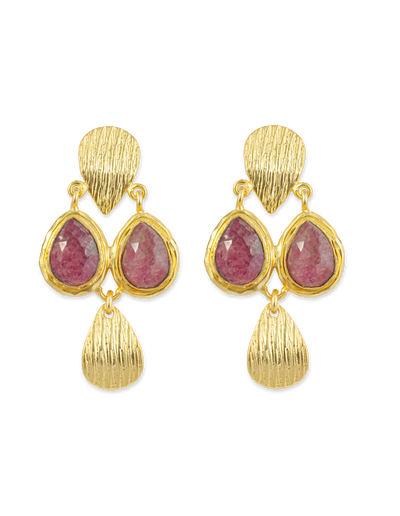 Bianc Frankie Earrings w/ Rhodonite