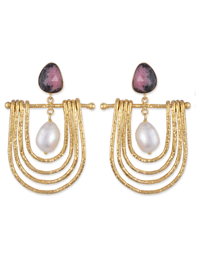 Bianc Cleopatra Earrings w/ Freshwater Pearl