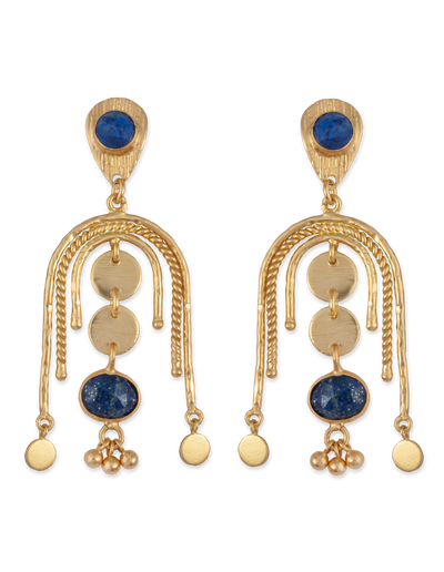 Bianc Sia Earrings w/ Lapis