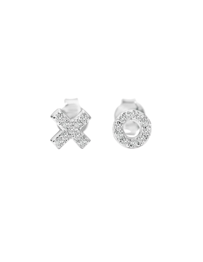 Georgini Kiss Hug Stud Earrings - Silver - Mocha