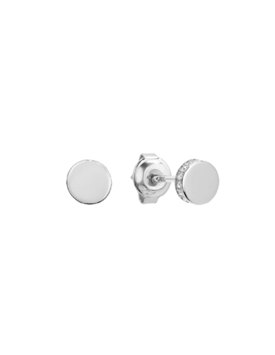 Georgini Micro Stud Earrings - Silver - Mocha