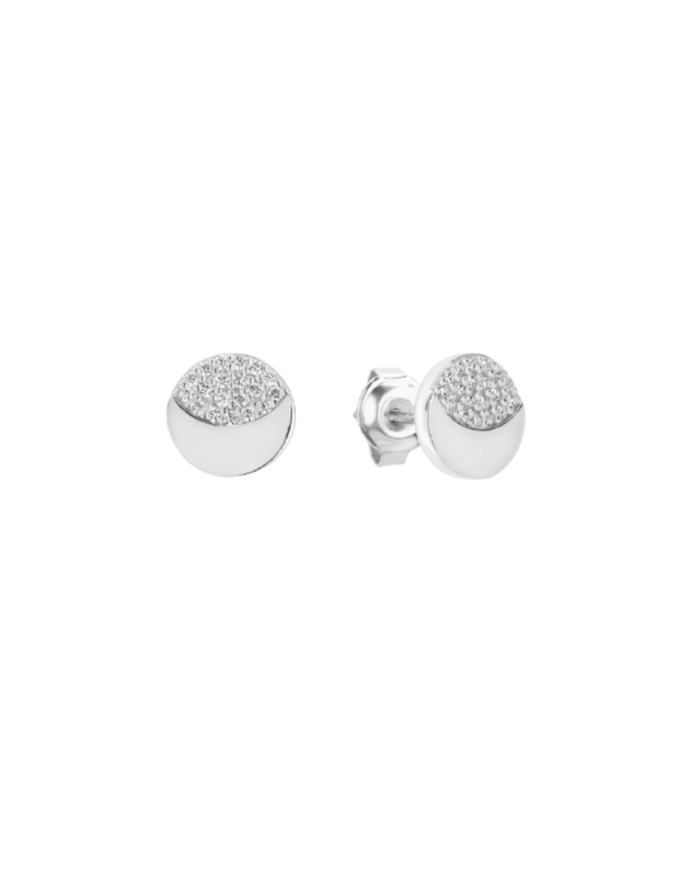 Georgini Slate Stud Earrings - Silver - Mocha