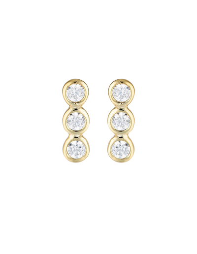 Georgini Trio Stud Earrings - Gold - Mocha